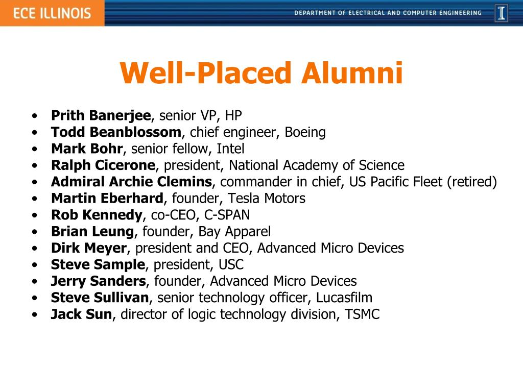 Well-Placed Alumni