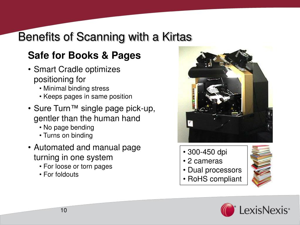 Benefits of Scanning with a Kirtas