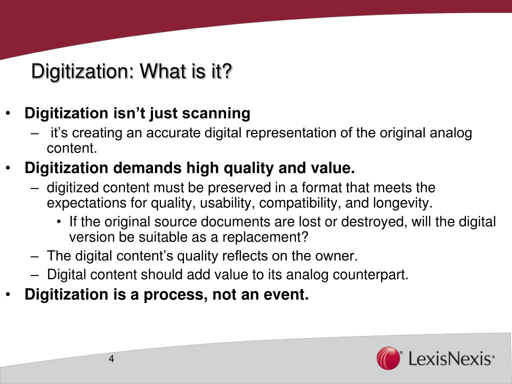 Digitization: What is it?