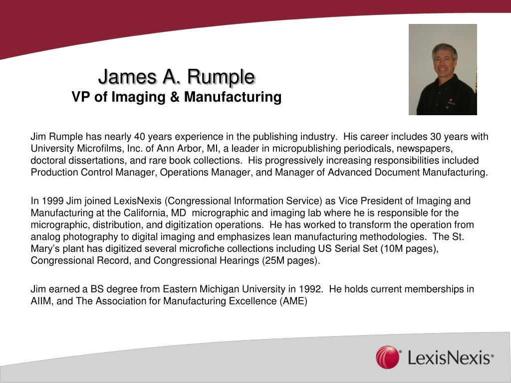 James A. Rumple