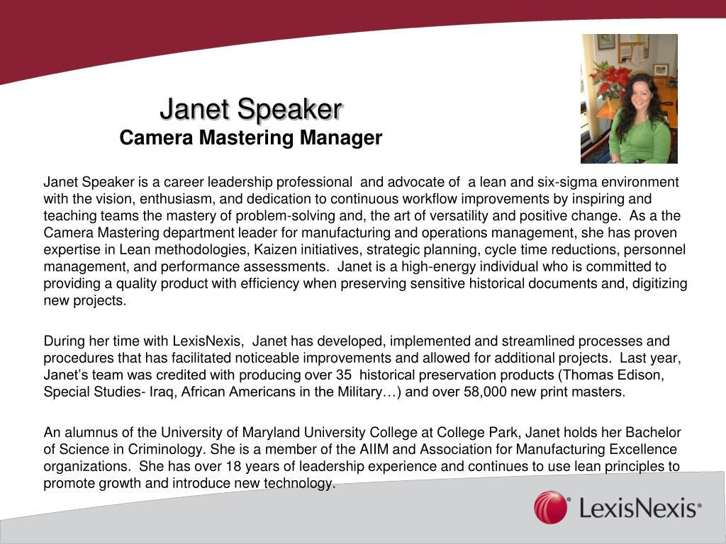 Janet Speaker