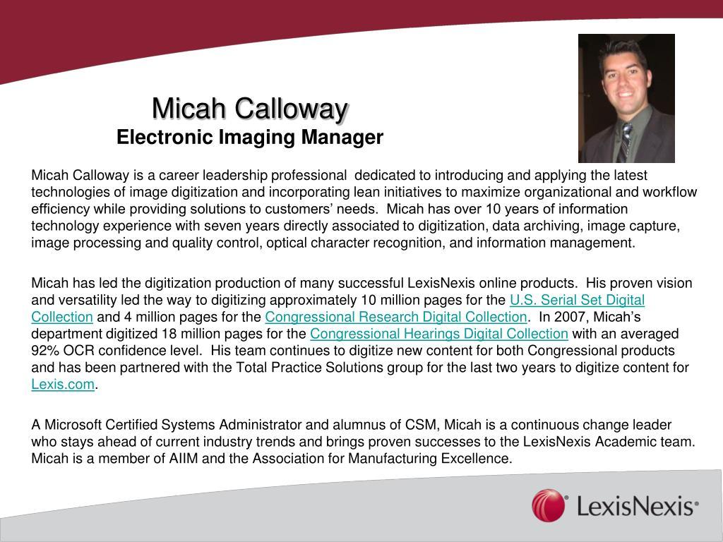 Micah Calloway
