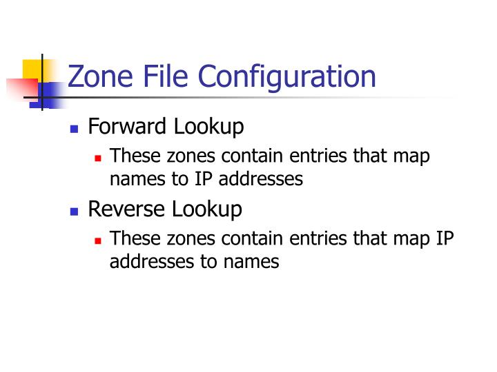 Zone File Configuration