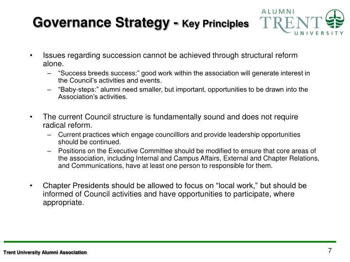 Governance Strategy -