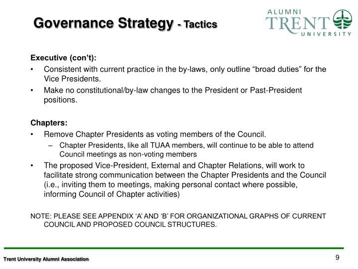 Governance Strategy