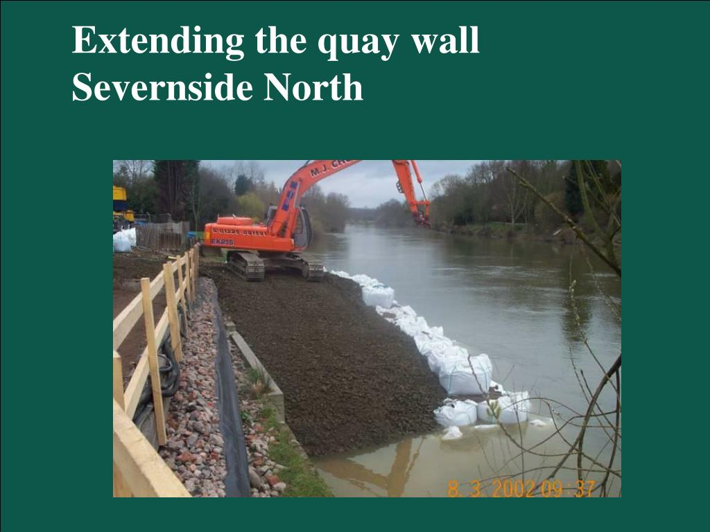 Extending the quay wall Severnside North