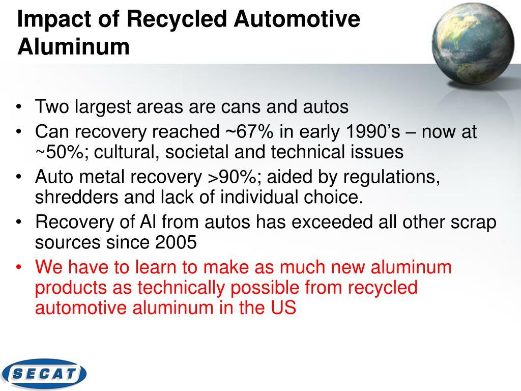 Impact of Recycled Automotive Aluminum