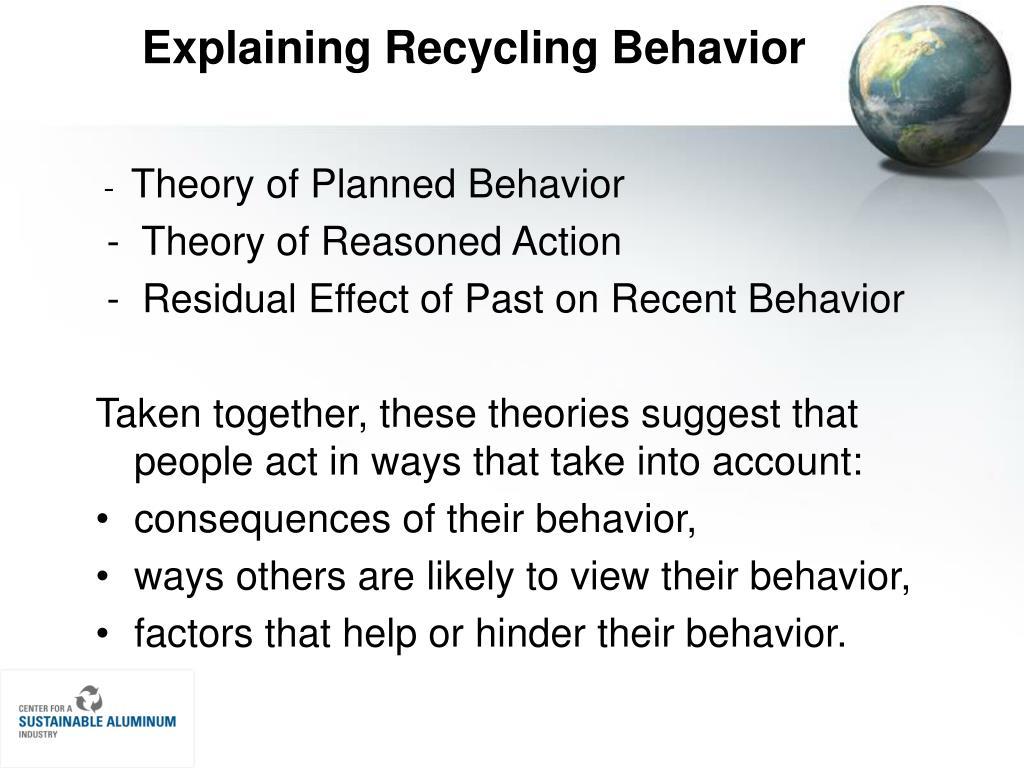 Explaining Recycling Behavior