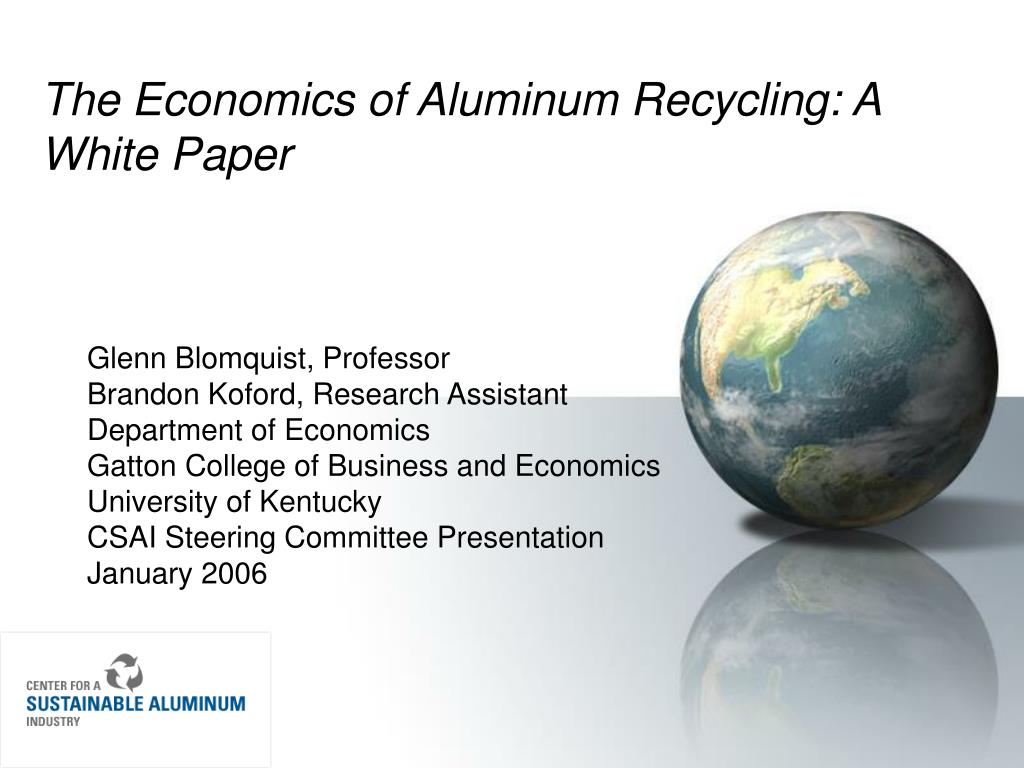 The Economics of Aluminum Recycling: A White Paper