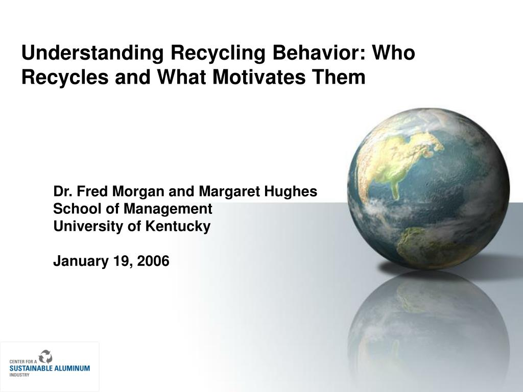 Understanding Recycling Behavior: Who Recycles and What Motivates Them