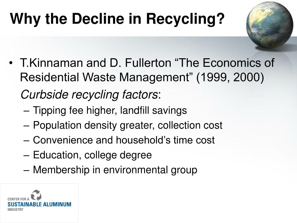 Why the Decline in Recycling?