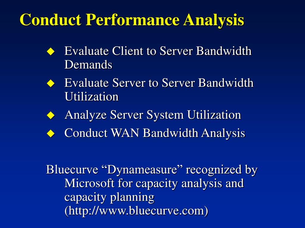 Conduct Performance Analysis
