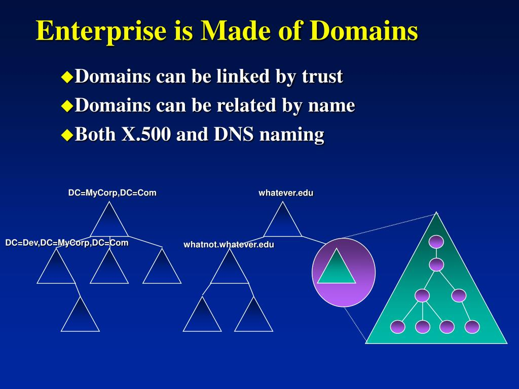 Enterprise is Made of Domains