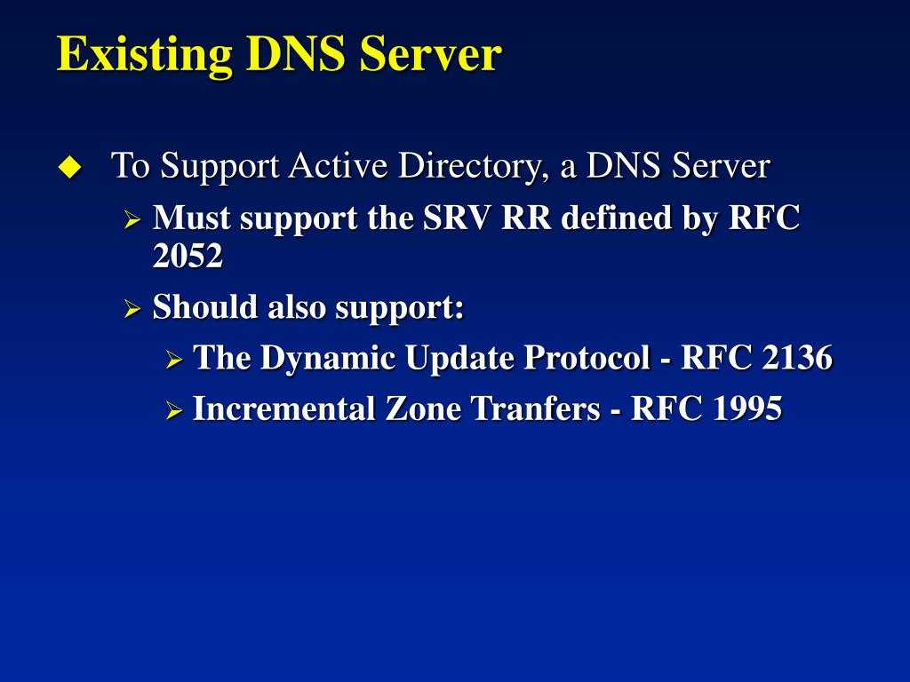 Existing DNS Server