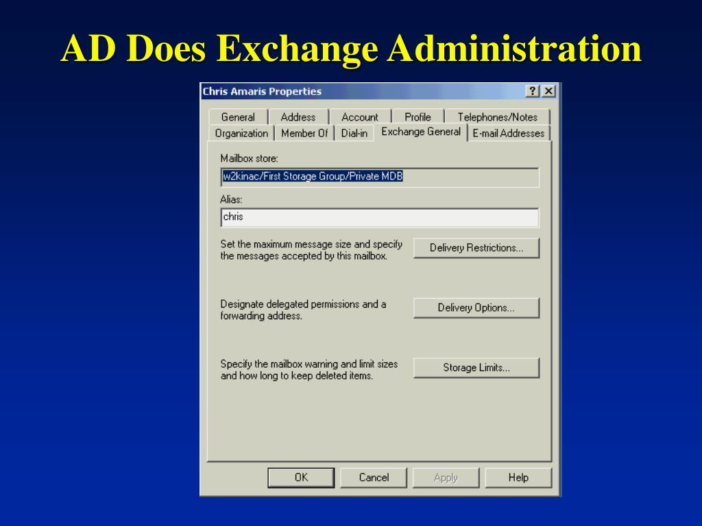 AD Does Exchange Administration
