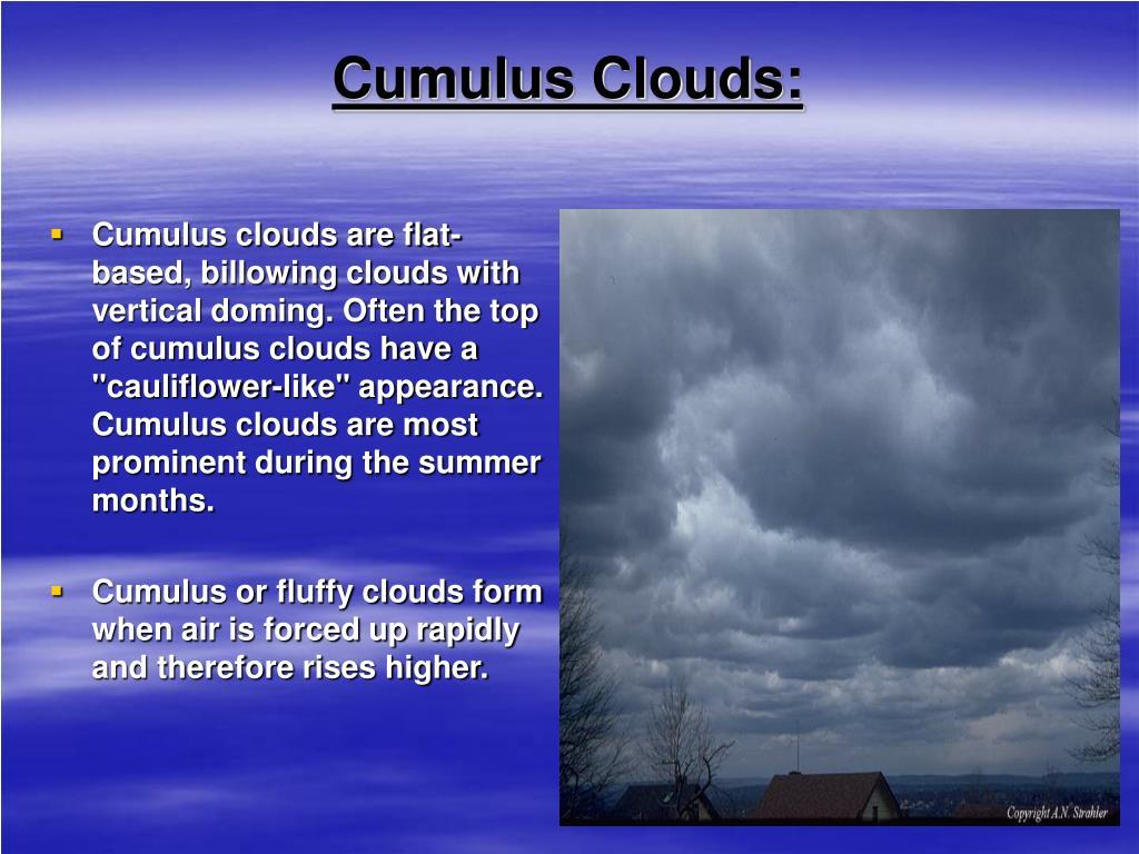 Cumulus Clouds: