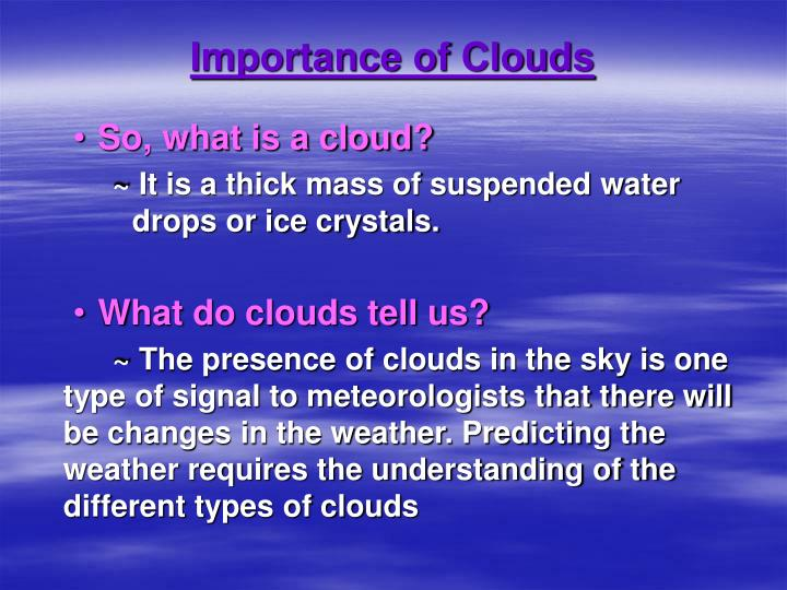 Importance of clouds l.jpg