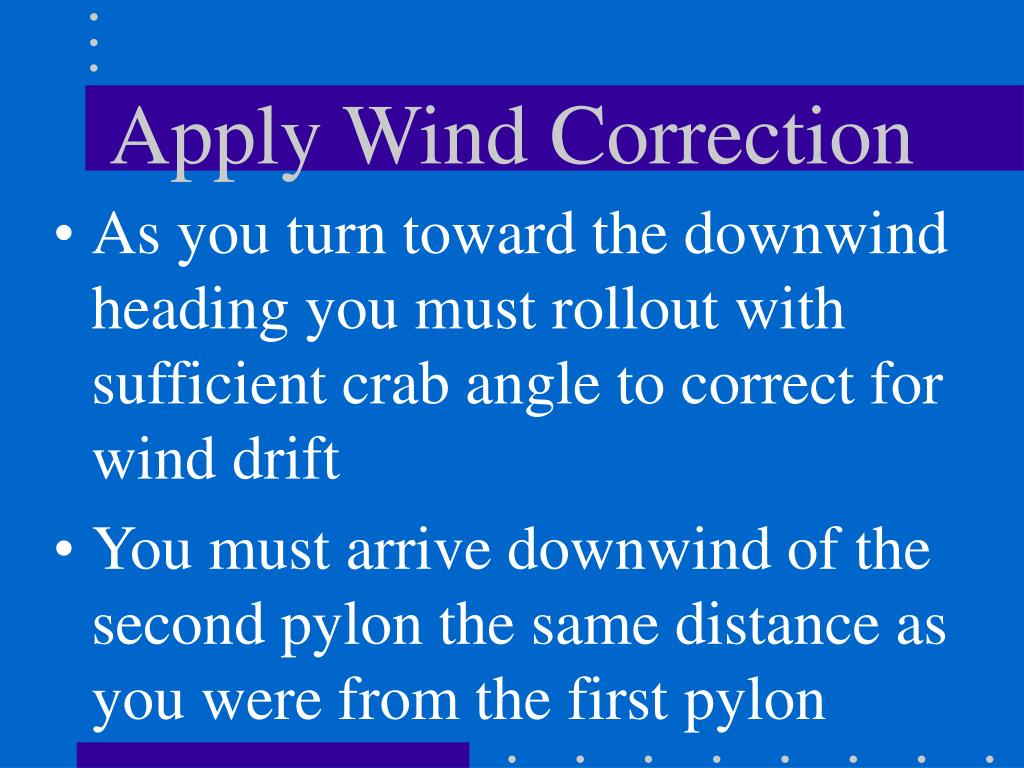 Apply Wind Correction