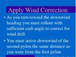 apply wind correction