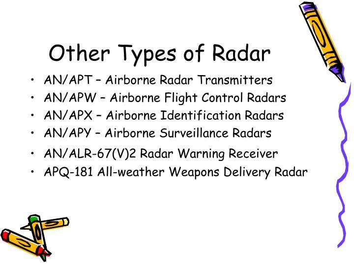 Other Types of Radar