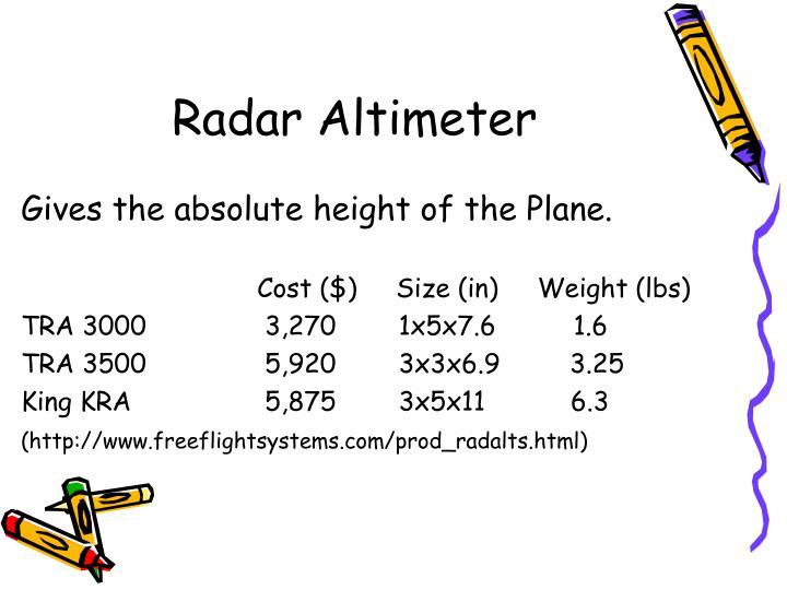 Radar Altimeter