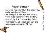 radar sensor