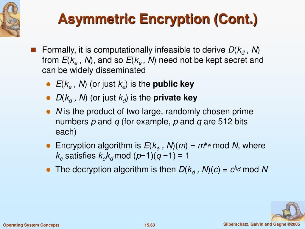 Asymmetric Encryption (Cont.)