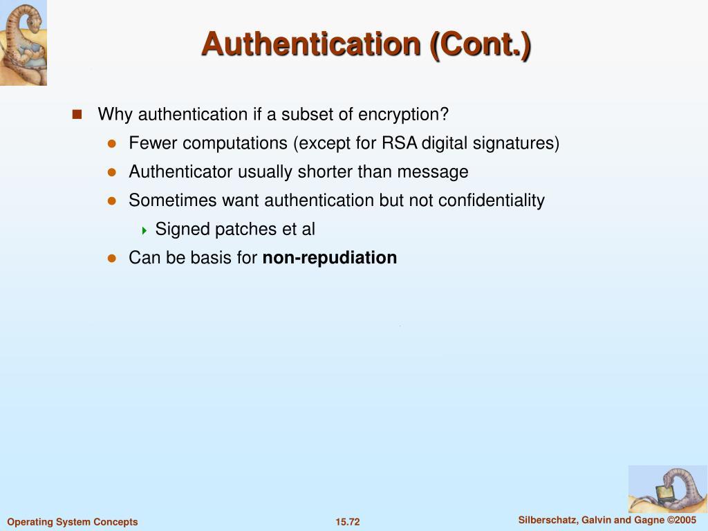 Authentication (Cont.)