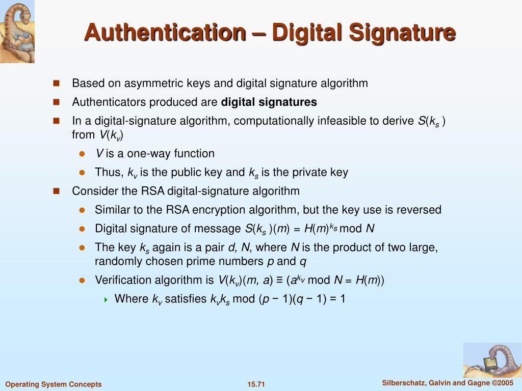 Authentication – Digital Signature