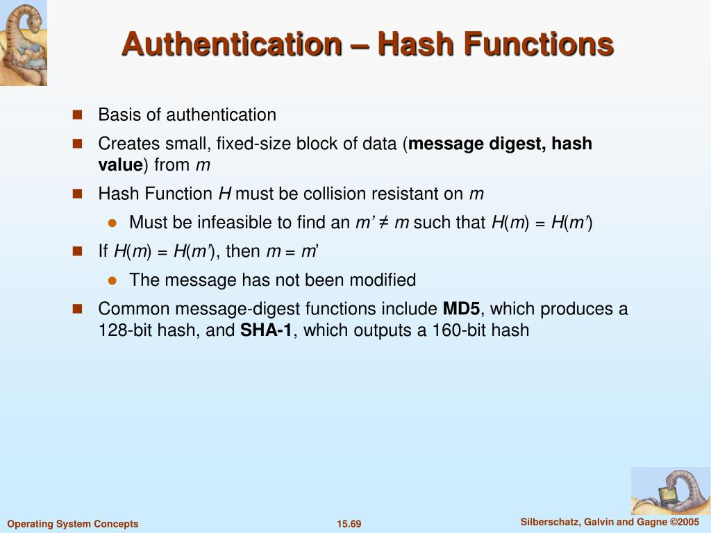 Authentication – Hash Functions