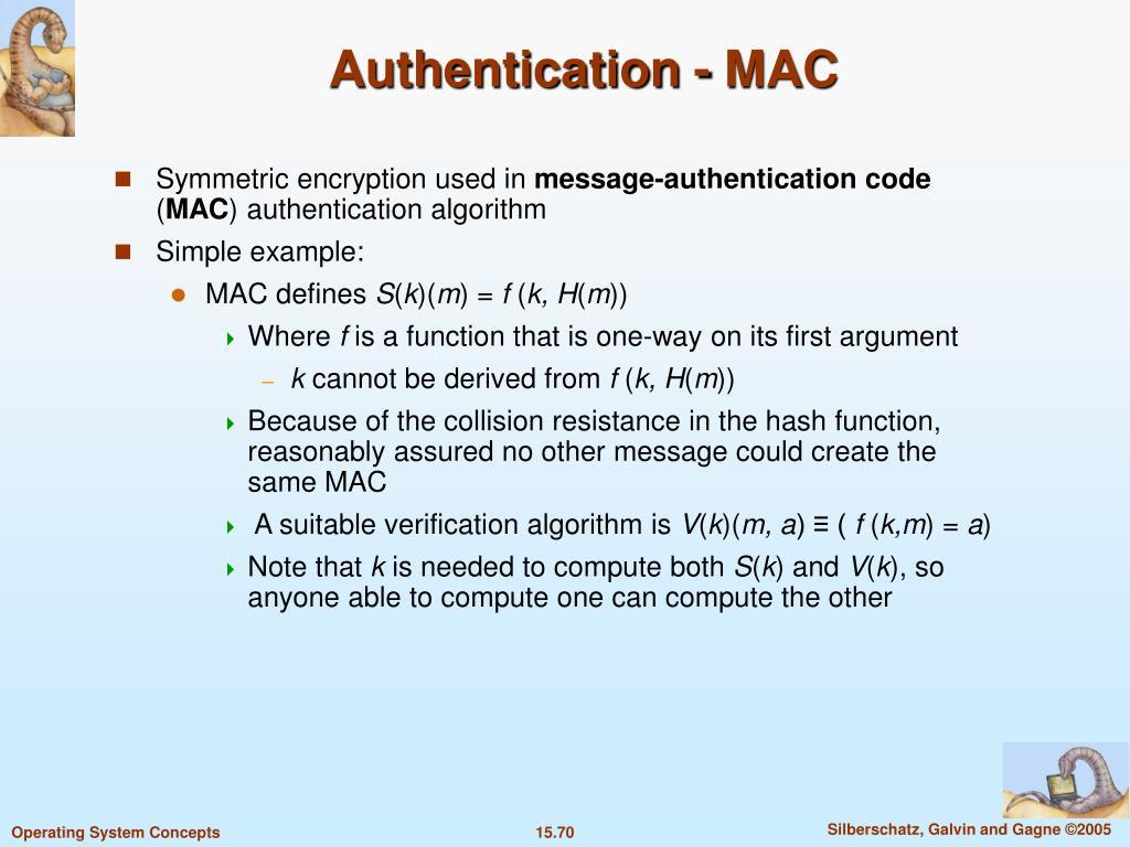 Authentication - MAC