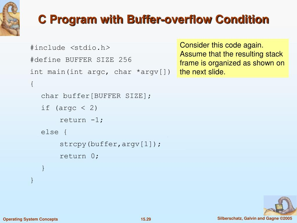 C Program with Buffer-overflow Condition