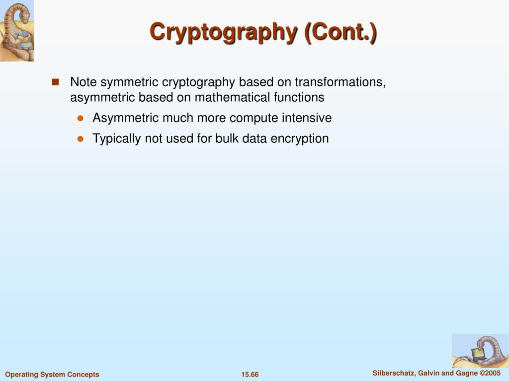 Cryptography (Cont.)