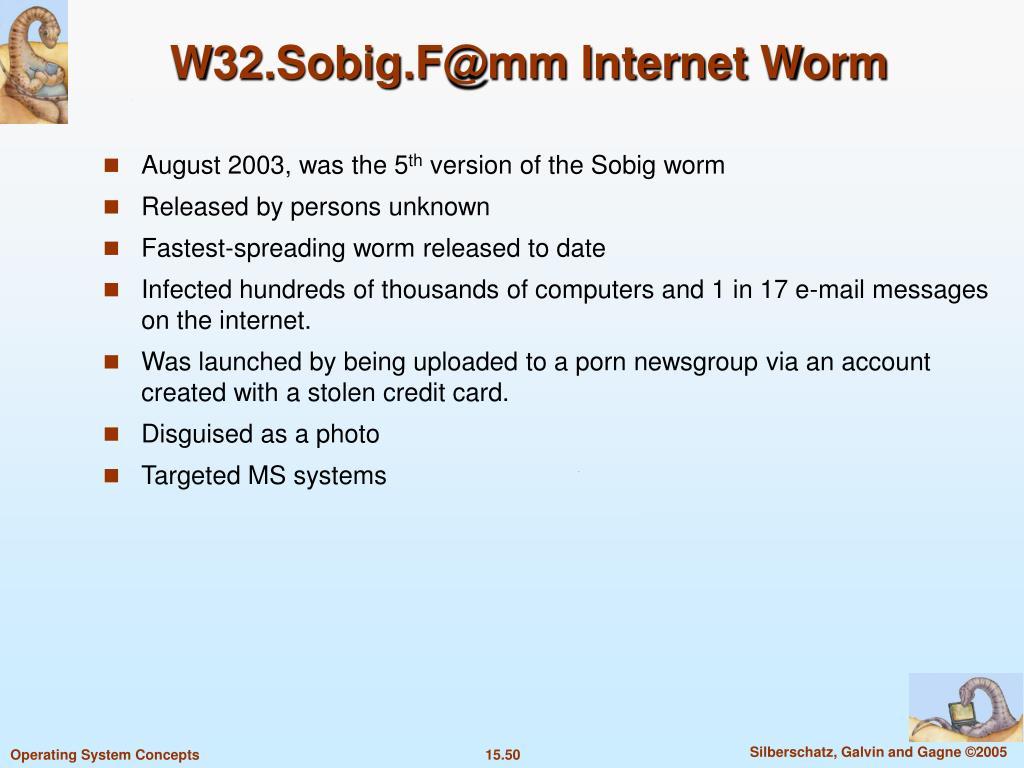 W32.Sobig.F@mm Internet Worm