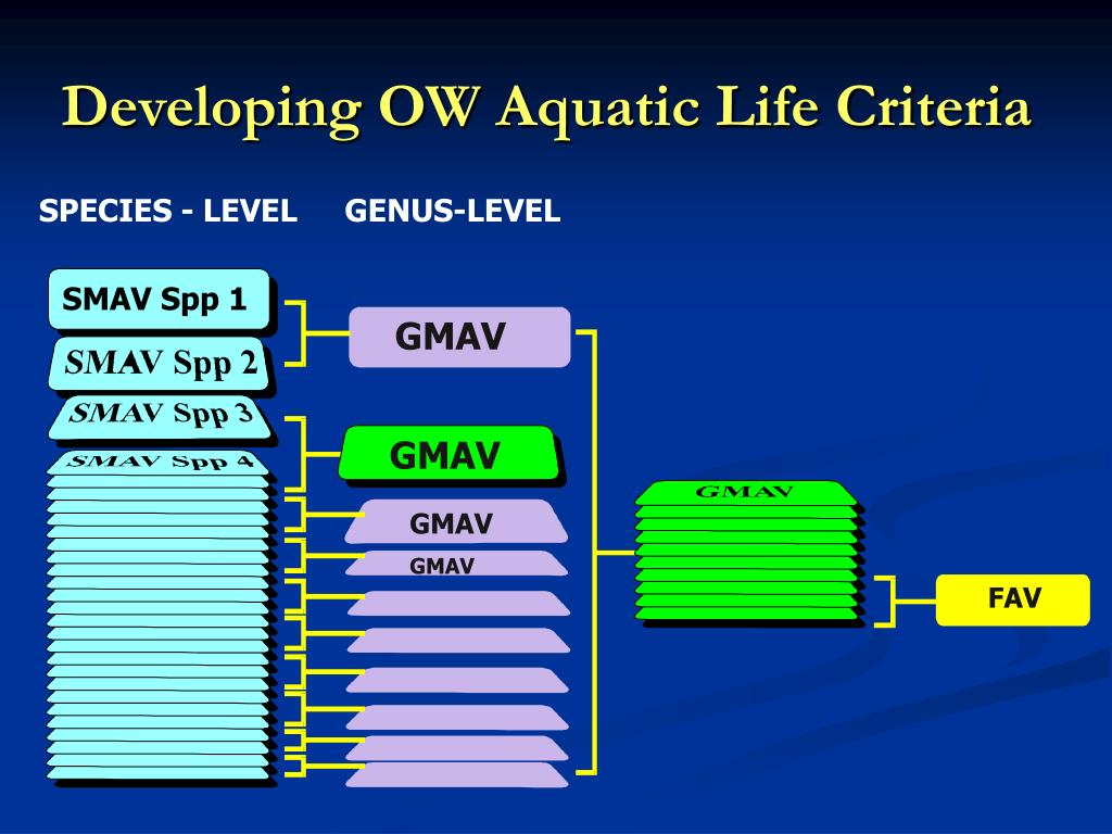 Developing OW Aquatic Life Criteria