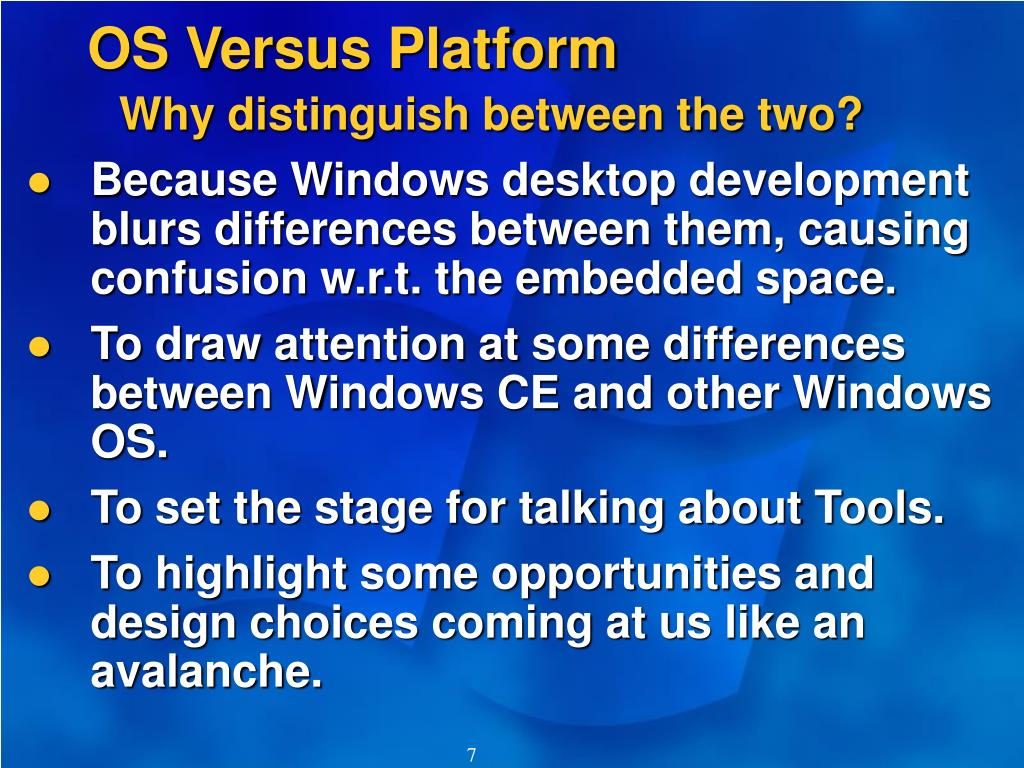 OS Versus Platform