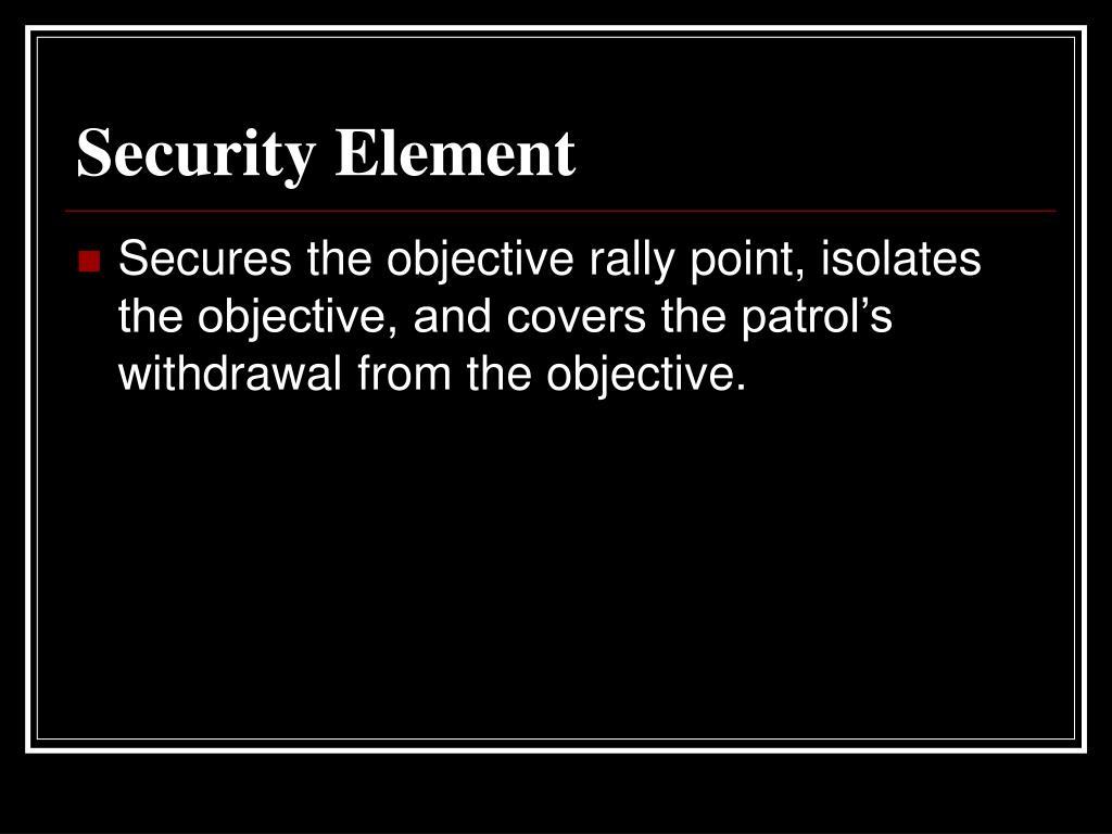 Security Element
