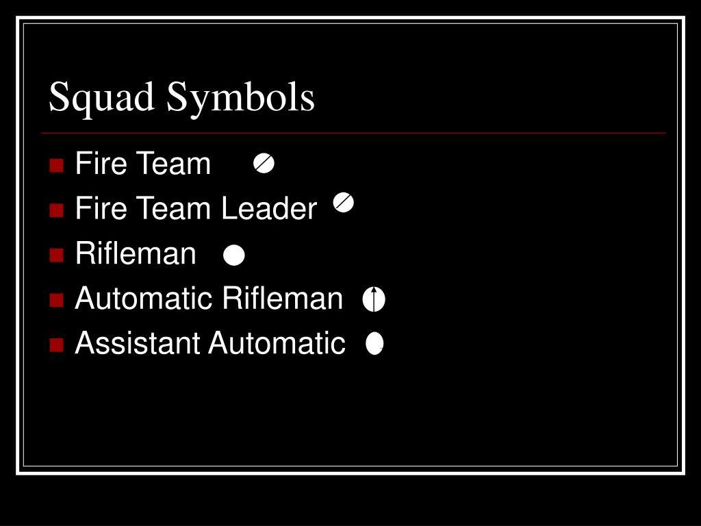 Squad Symbols