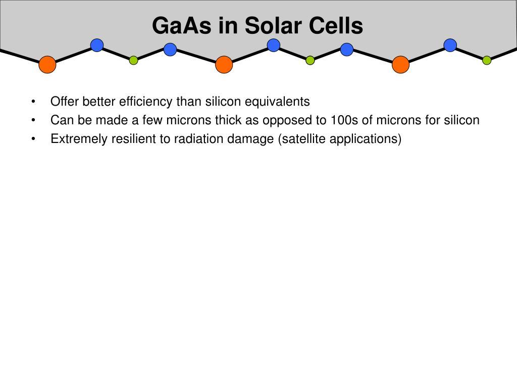 GaAs in Solar Cells