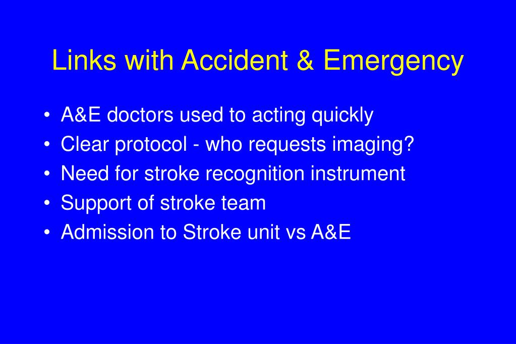 Links with Accident & Emergency