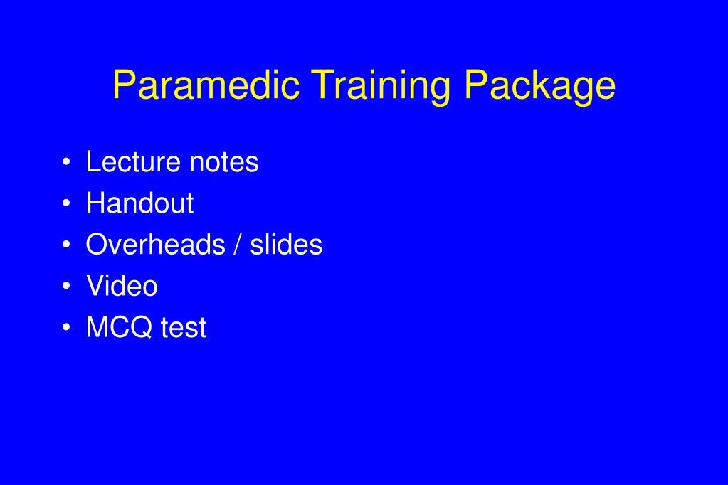 Paramedic Training Package