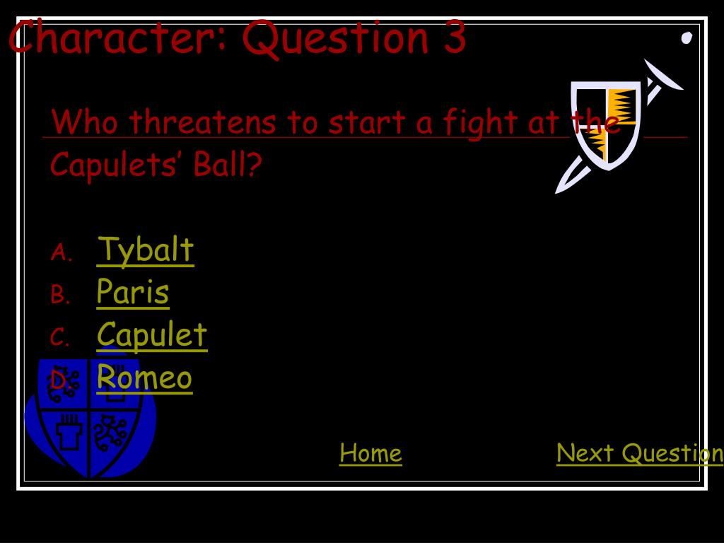 Character: Question 3