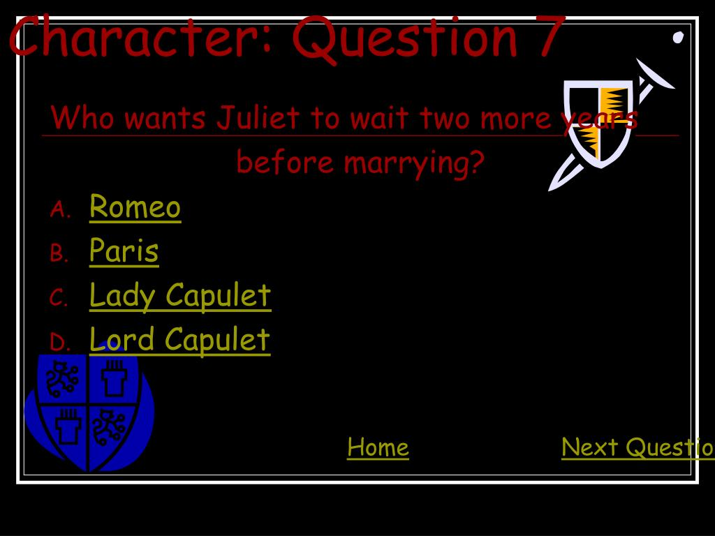 Character: Question 7