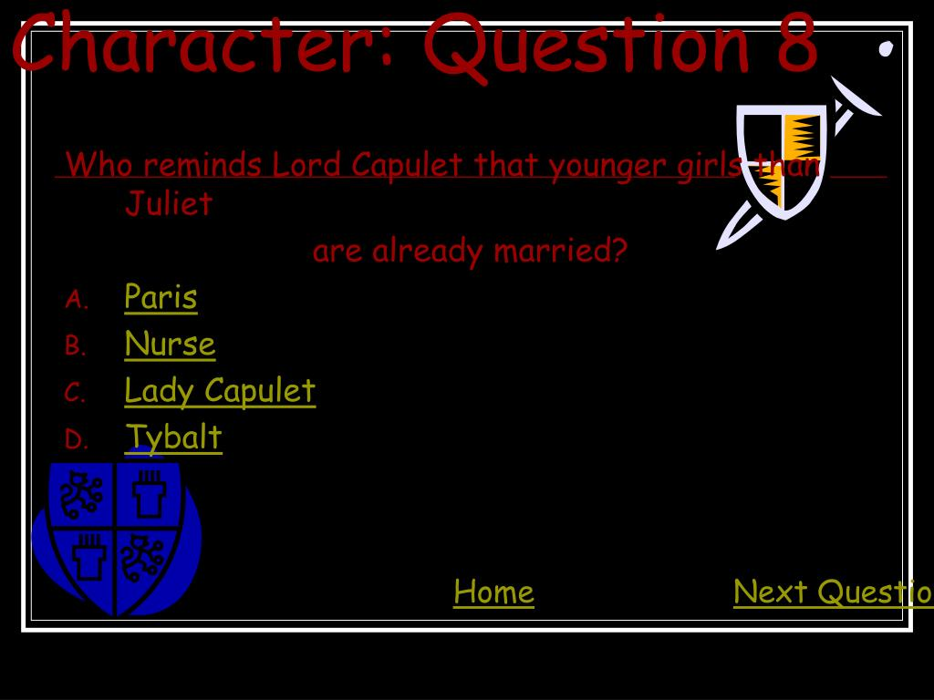 Character: Question 8