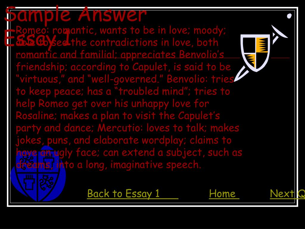 Sample Answer Essay 1
