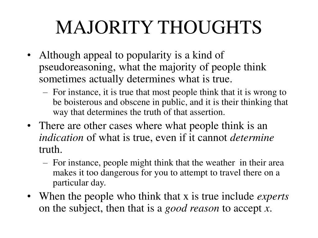 MAJORITY THOUGHTS