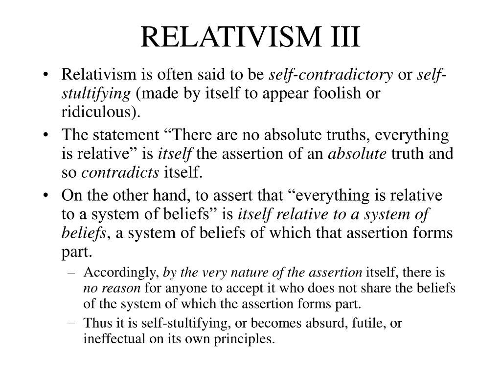 RELATIVISM III