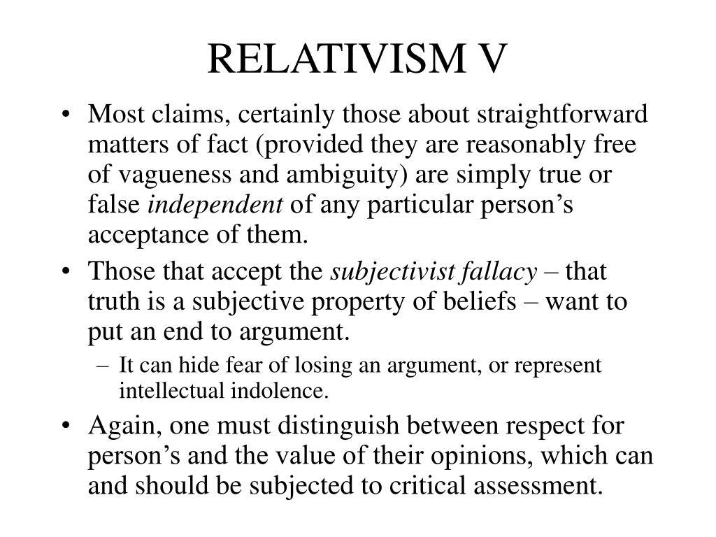 RELATIVISM V