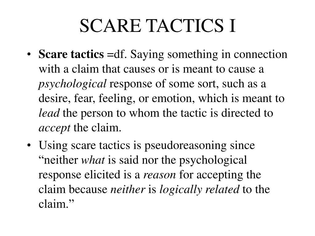 SCARE TACTICS I