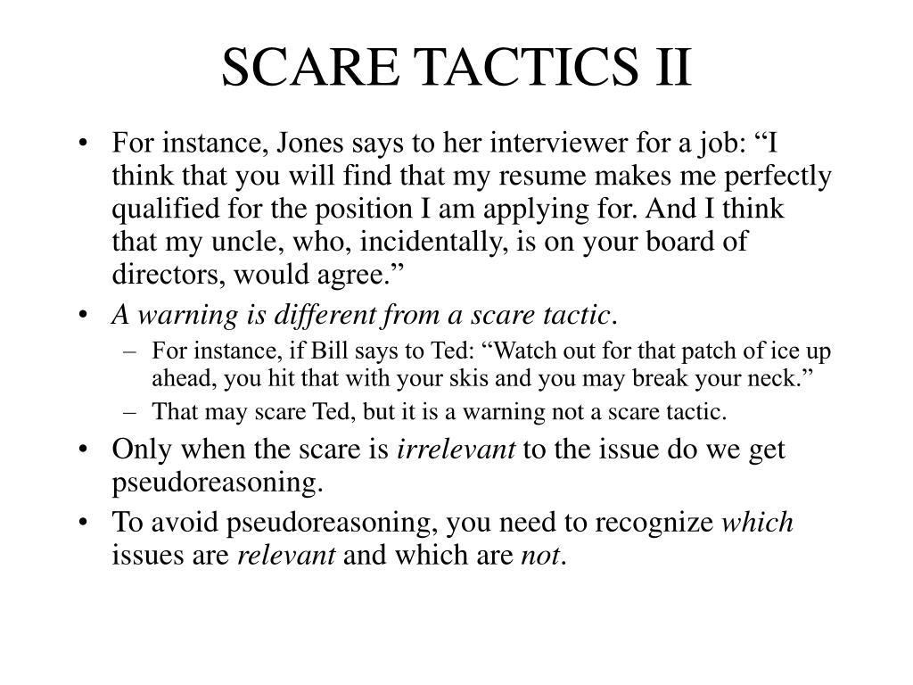 SCARE TACTICS II